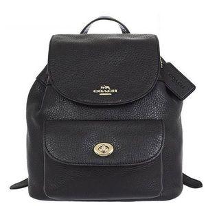 NWT Coach Billie Mini Backpack Black Leather
